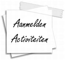 Aanmelden activiteiten