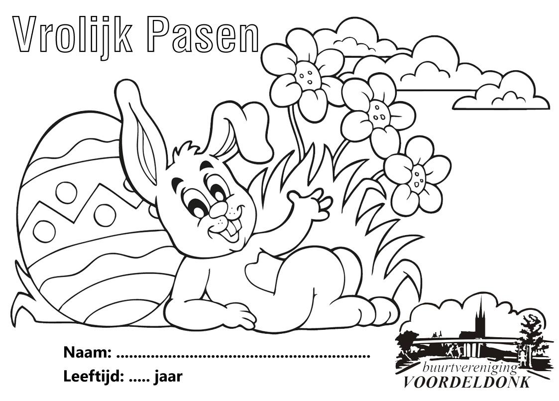 Kleurplaten Peuters Pasen.Kleurplaat Pasen Bv Voordeldonk Buurtvereniging Voordeldonk Asten